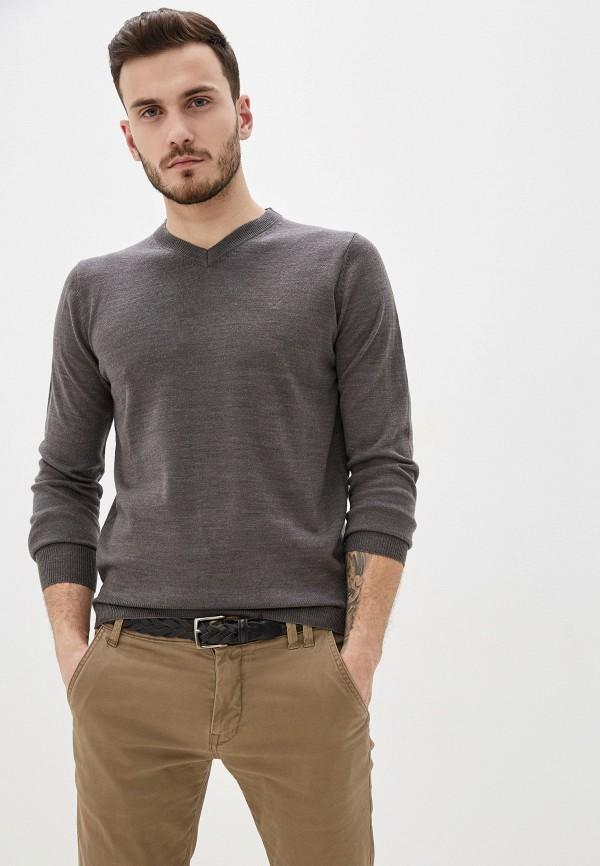 мужской пуловер old seams, серый