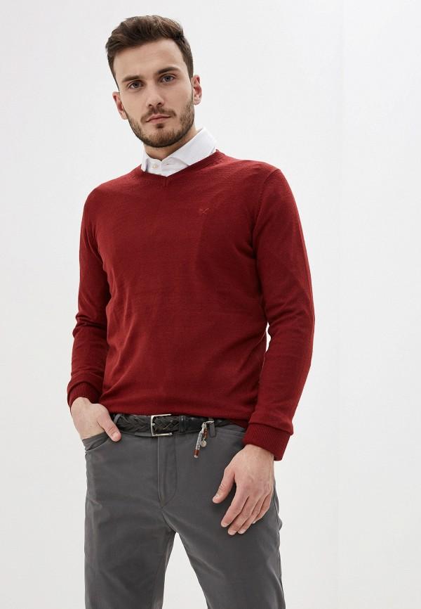 мужской пуловер old seams, бордовый