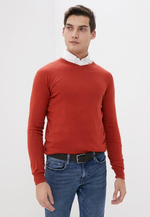 мужской пуловер old seams, оранжевый
