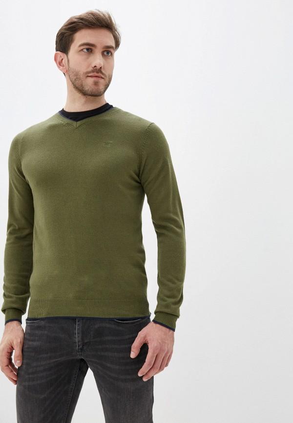 мужской пуловер old seams, зеленый