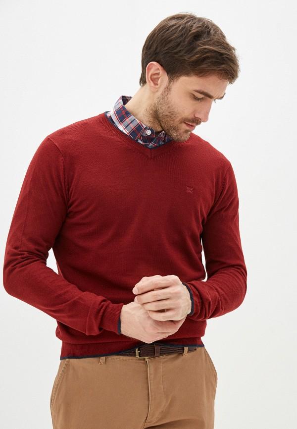 мужской пуловер old seams, красный