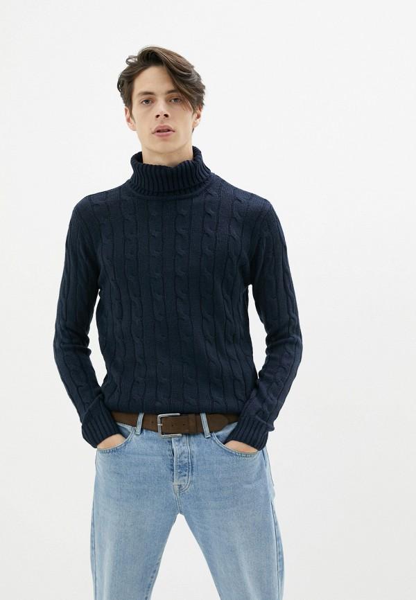 мужской свитер old seams, синий