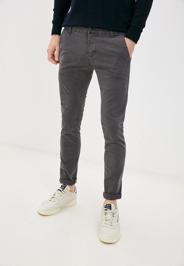 мужские брюки чинос old seams, серые