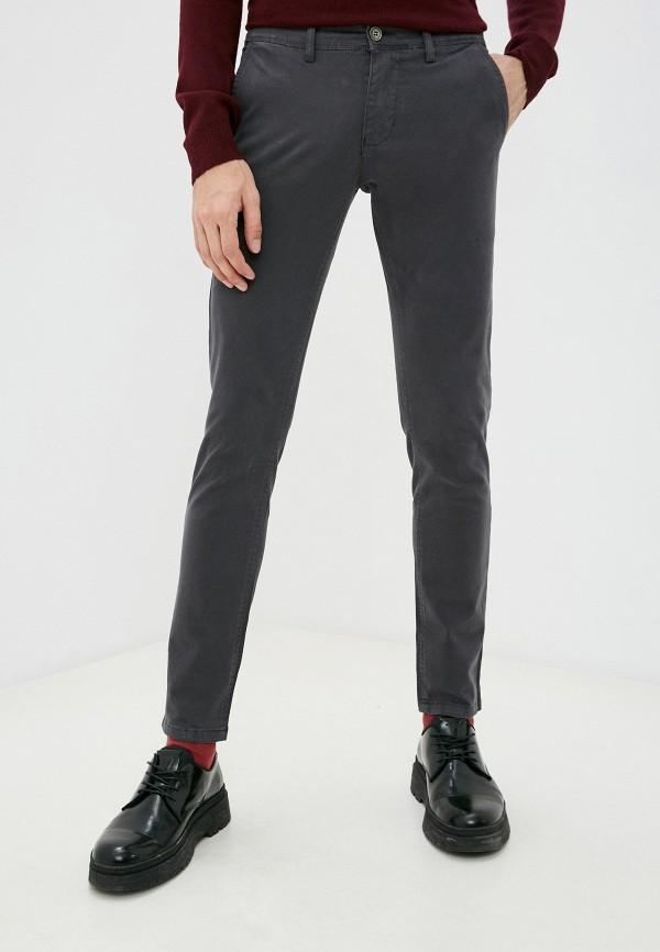 мужские брюки old seams, серые