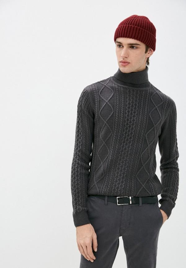мужской свитер old seams, серый