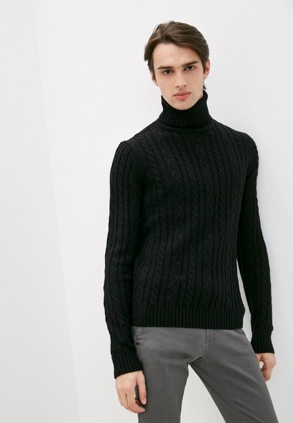 мужской свитер old seams, черный