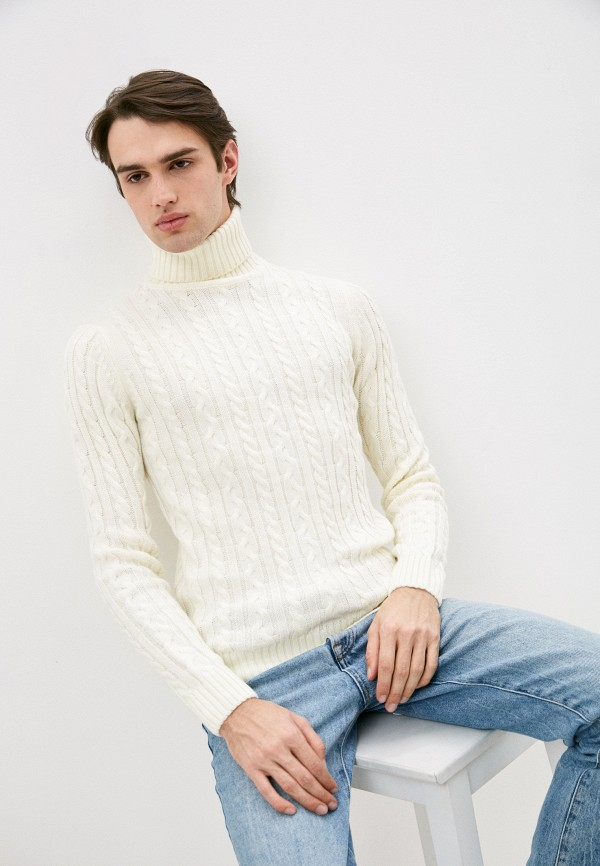 мужской свитер old seams, белый