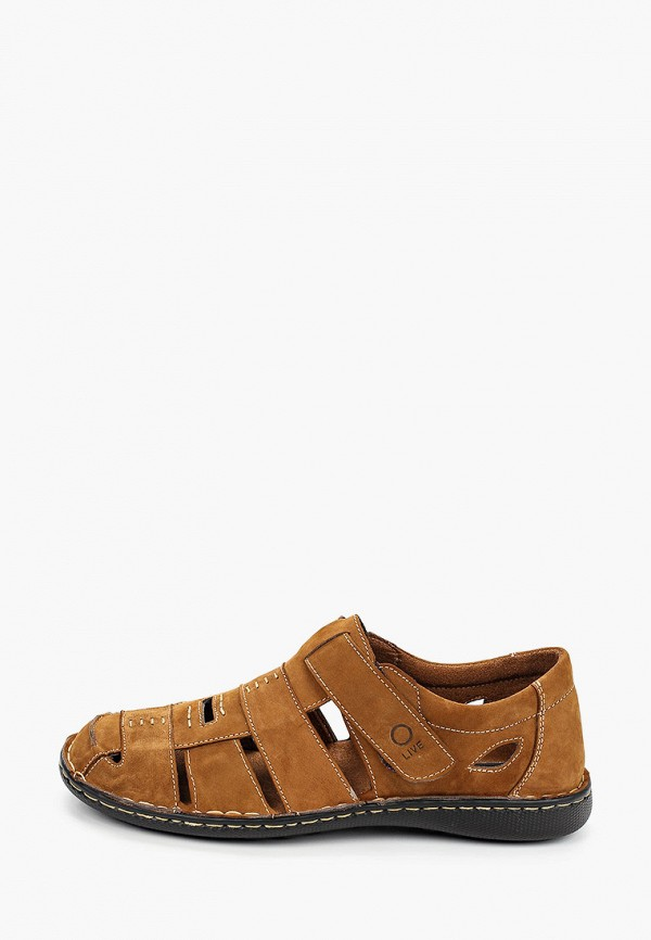 мужские сандалии o-live naturalle, коричневые