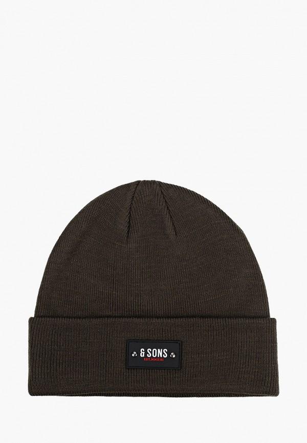 мужская шапка only & sons, хаки