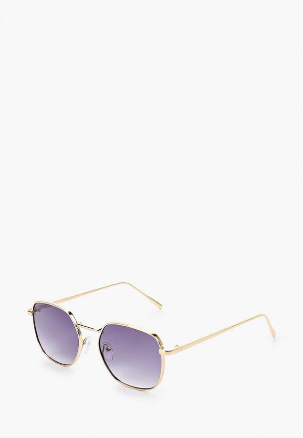 мужские круглые солнцезащитные очки only & sons, золотые