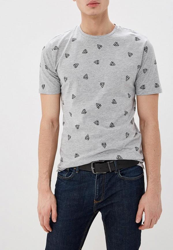 мужская футболка с коротким рукавом only & sons, серая