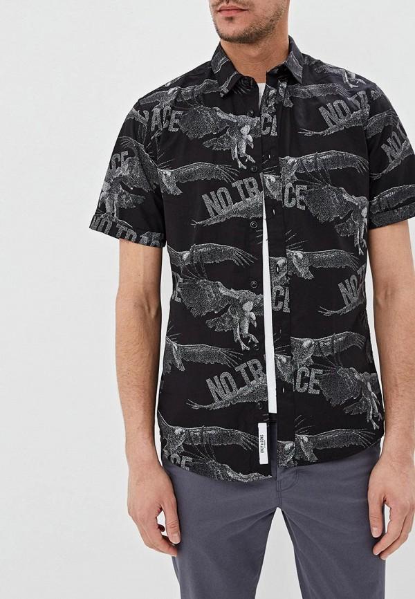 мужская рубашка с коротким рукавом only & sons, черная
