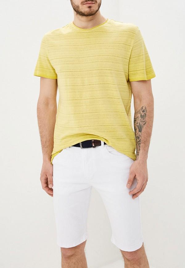 мужская футболка с коротким рукавом only & sons, желтая