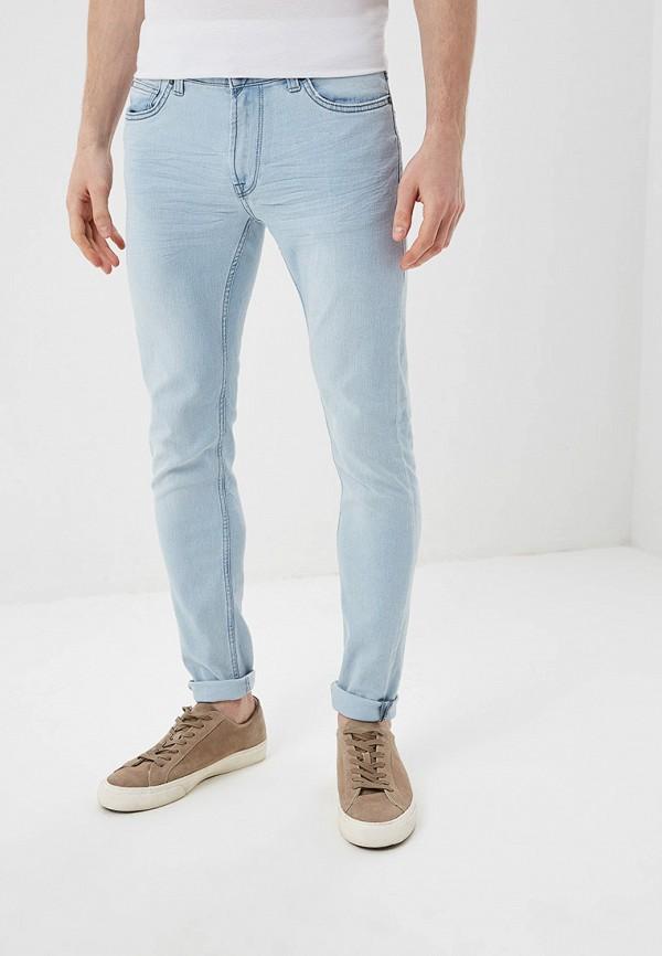 мужские зауженные джинсы only & sons, голубые