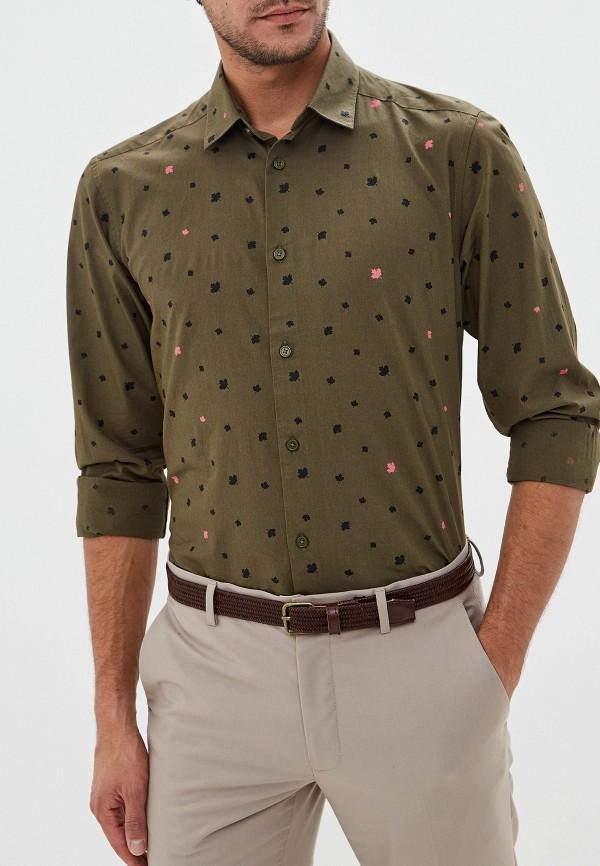 мужская рубашка с длинным рукавом only & sons, хаки