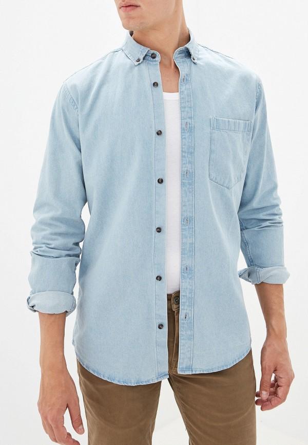 мужская рубашка only & sons, голубая
