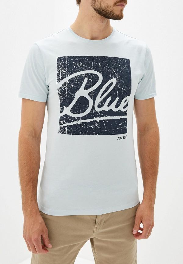 мужская футболка с коротким рукавом only & sons, бирюзовая