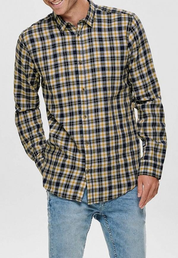мужская рубашка с длинным рукавом only & sons, разноцветная