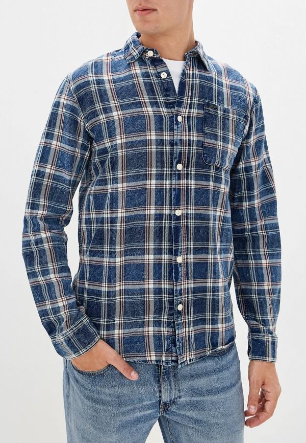 мужская рубашка only & sons, синяя
