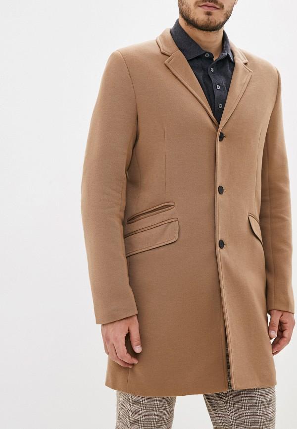 Фото - Пальто Only & Sons коричневого цвета