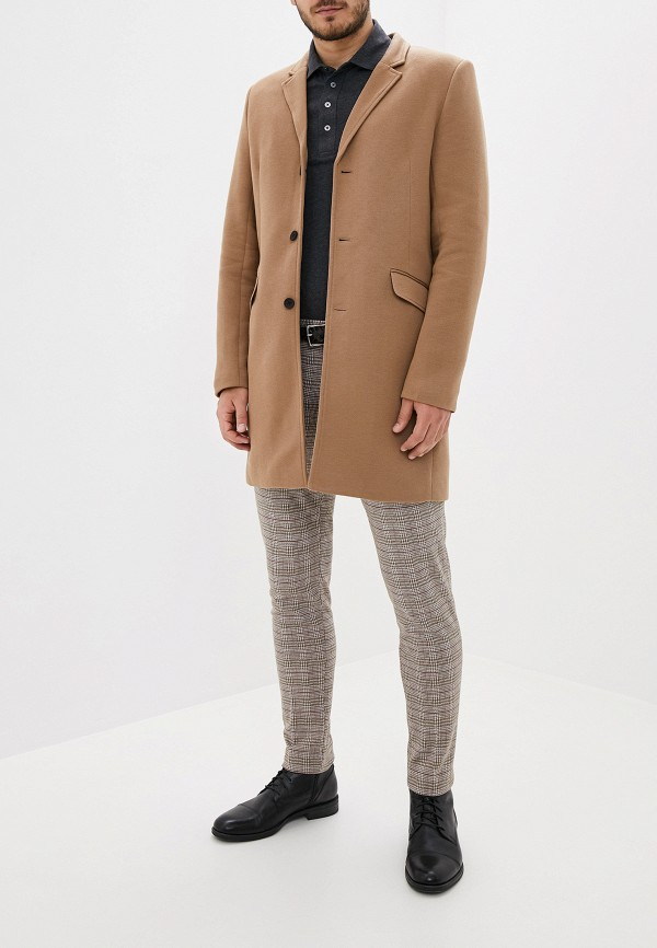 Фото 2 - Пальто Only & Sons коричневого цвета