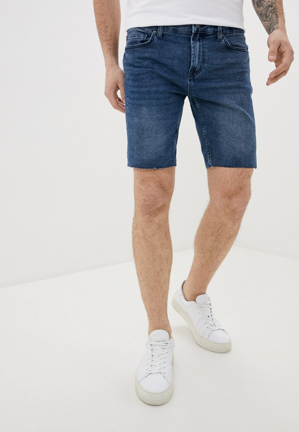 мужские джинсовые шорты only & sons, синие