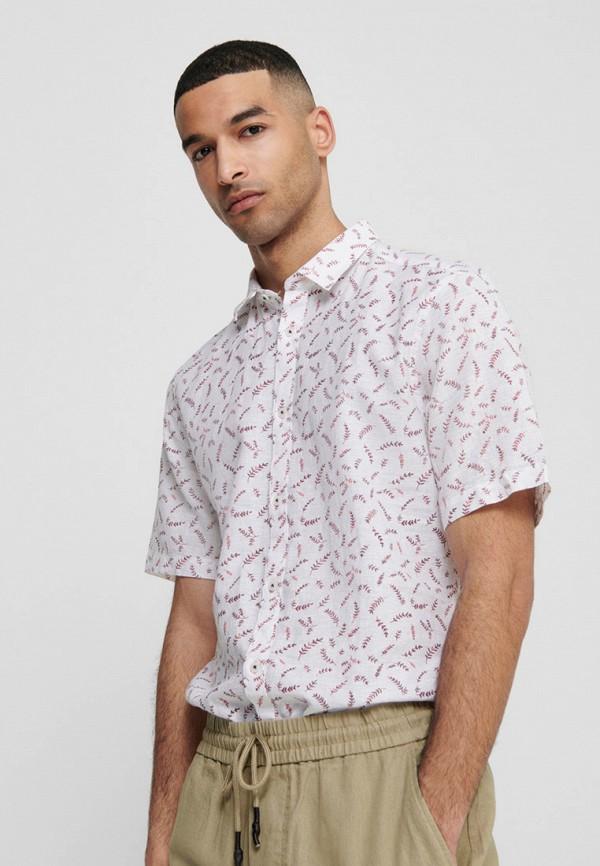 мужская рубашка с коротким рукавом only & sons, белая