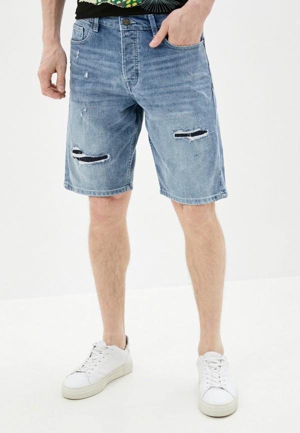 мужские джинсовые шорты only & sons, голубые