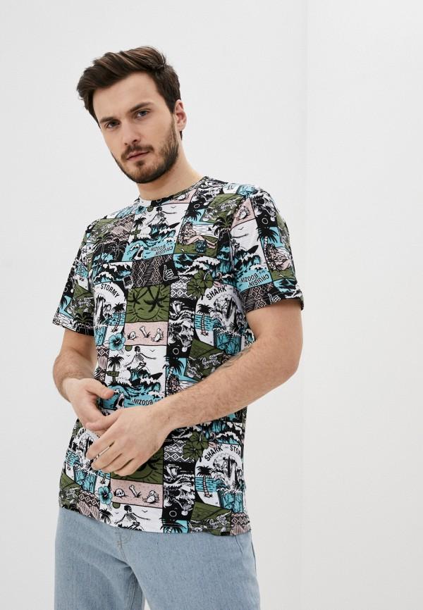 мужская футболка с коротким рукавом only & sons, разноцветная