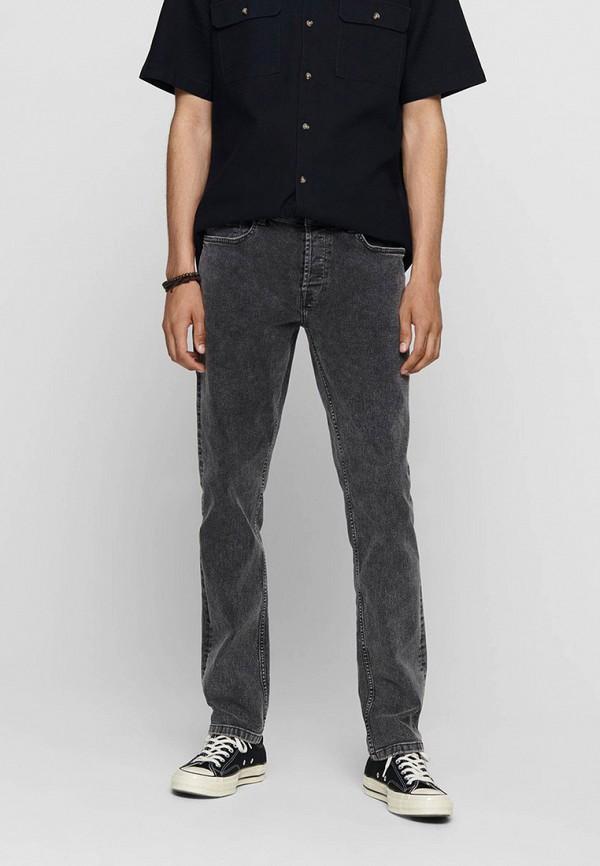 мужские прямые джинсы only & sons, серые
