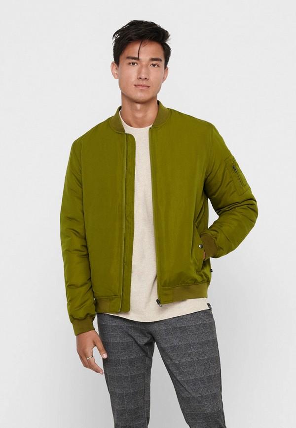 мужская утепленные куртка only & sons, хаки