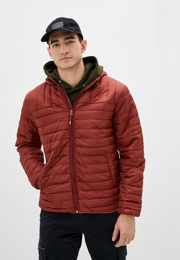 мужская куртка only & sons, бордовая