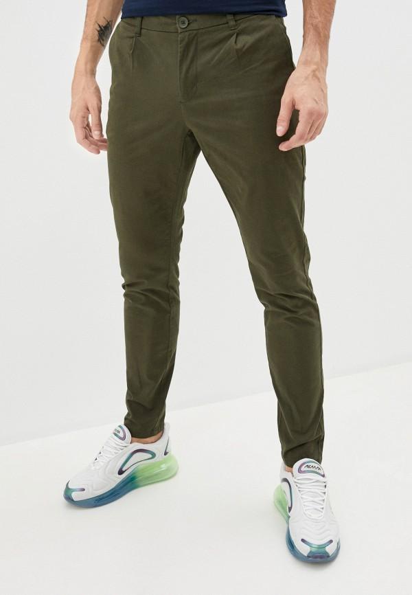 мужские брюки чинос only & sons, зеленые