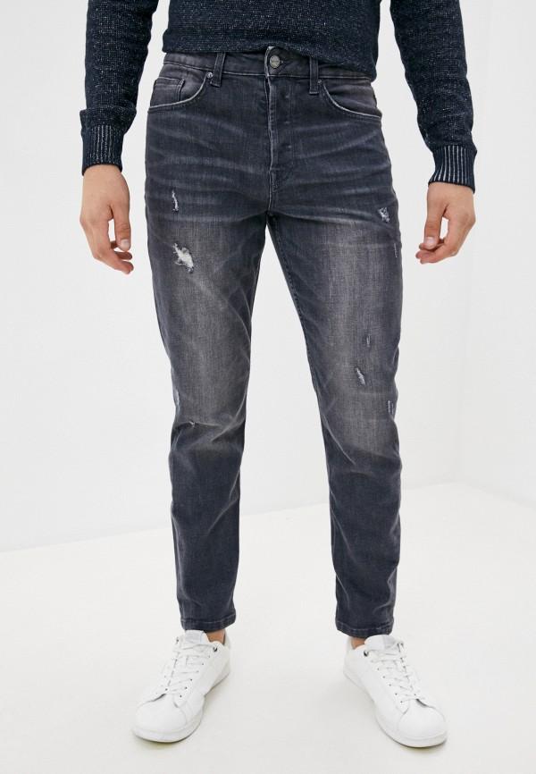 мужские зауженные джинсы only & sons, серые