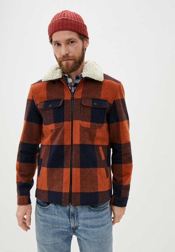 мужская куртка only & sons, коричневая