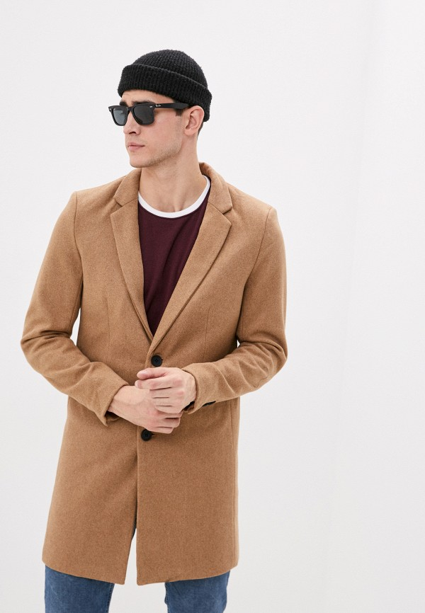 мужское пальто only & sons, серое