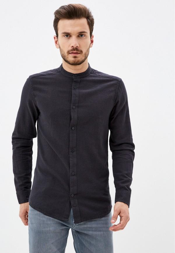 мужская рубашка с длинным рукавом only & sons, черная