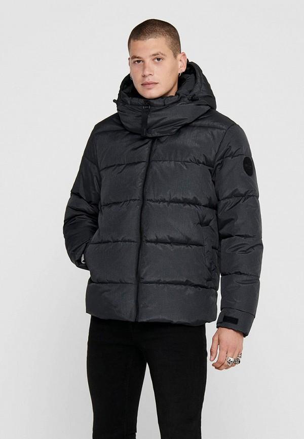 мужская куртка only & sons, синяя