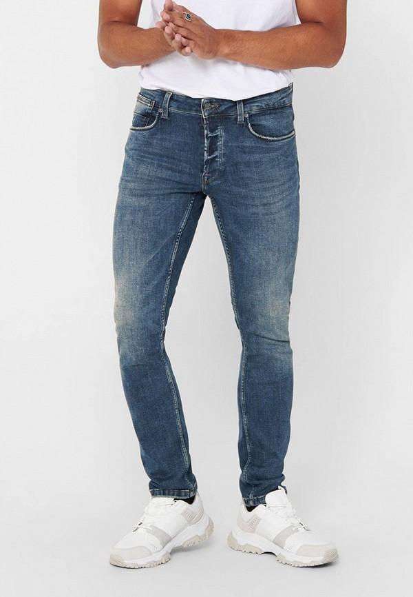 мужские прямые джинсы only & sons, синие