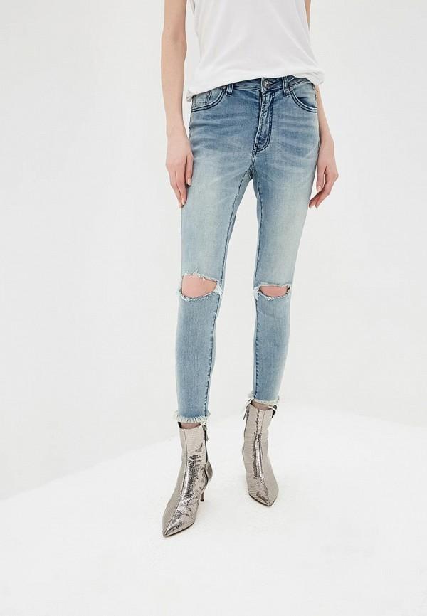 женские джинсы с высокой посадкой one teaspoon, голубые
