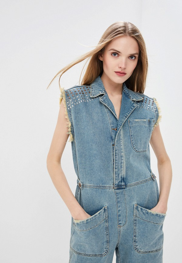Фото 2 - Комбинезон джинсовый One Teaspoon синего цвета
