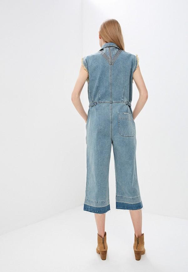 Фото 3 - Комбинезон джинсовый One Teaspoon синего цвета