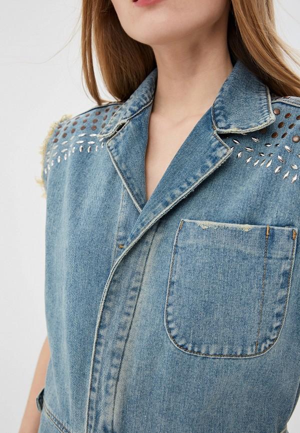 Фото 4 - Комбинезон джинсовый One Teaspoon синего цвета