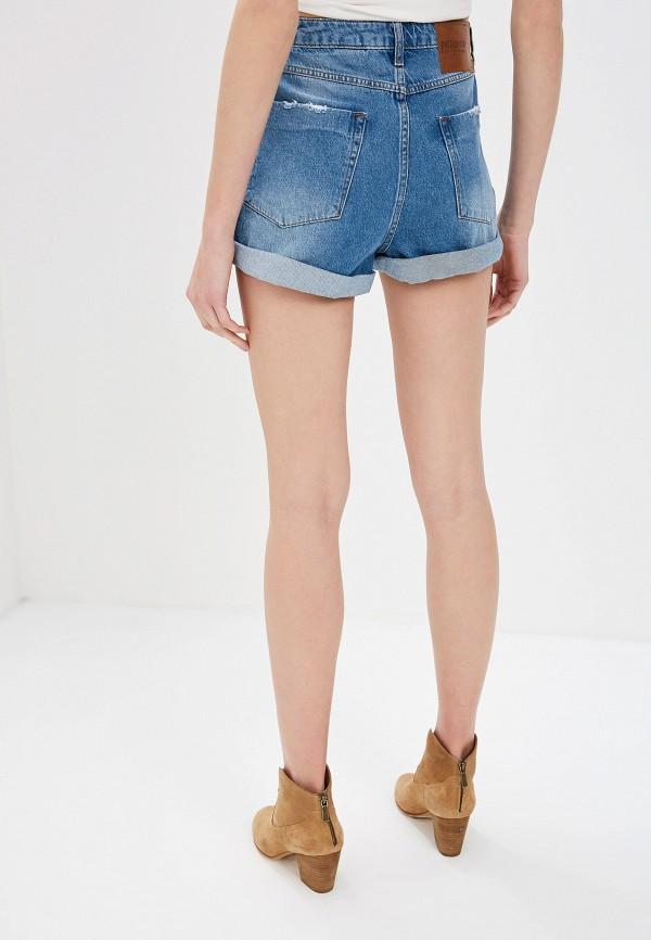 Фото 3 - Шорты джинсовые One Teaspoon синего цвета