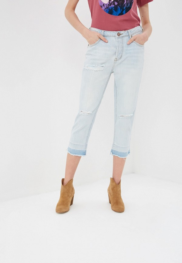 женские джинсы бойфренд one teaspoon, голубые