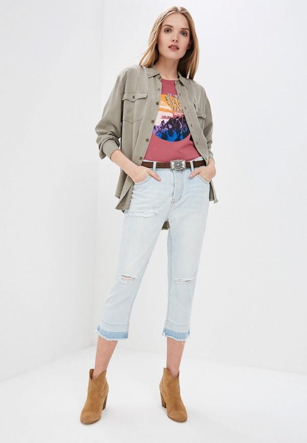Фото 2 - женские джинсы One Teaspoon голубого цвета
