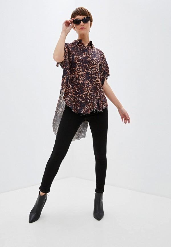 Фото 2 - женские брюки One Teaspoon черного цвета