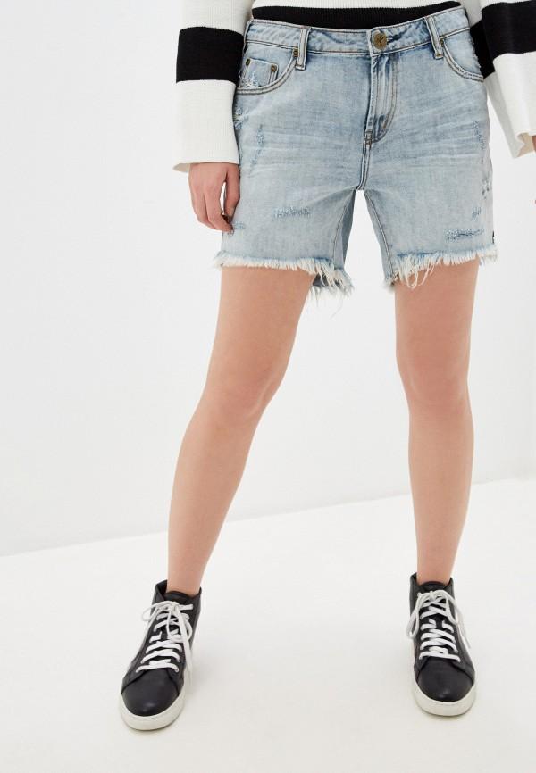 женские джинсовые шорты one teaspoon, голубые