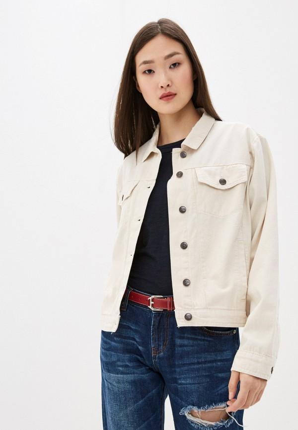 женская джинсовые куртка one teaspoon, бежевая