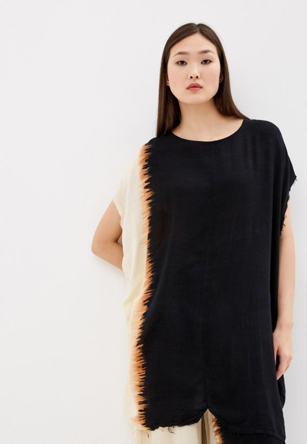 женская блузка с коротким рукавом one teaspoon, черная